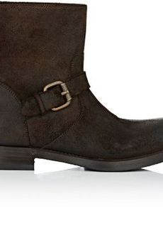 Barneys New York Women's Back-Zip Moto Boots