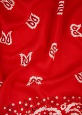Barneys New York Women's Bandana-Print Cotton Scarf - Red