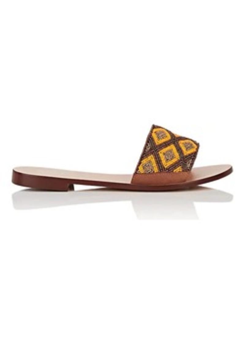 Barneys New York Women's Beaded Suede Slide Sandals