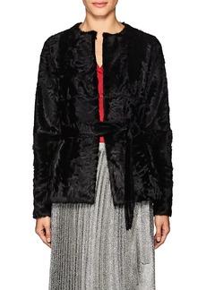 Barneys New York Women's Belted Fur Jacket