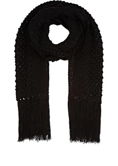 Barneys New York Women's Wool-Blend Scarf - Black