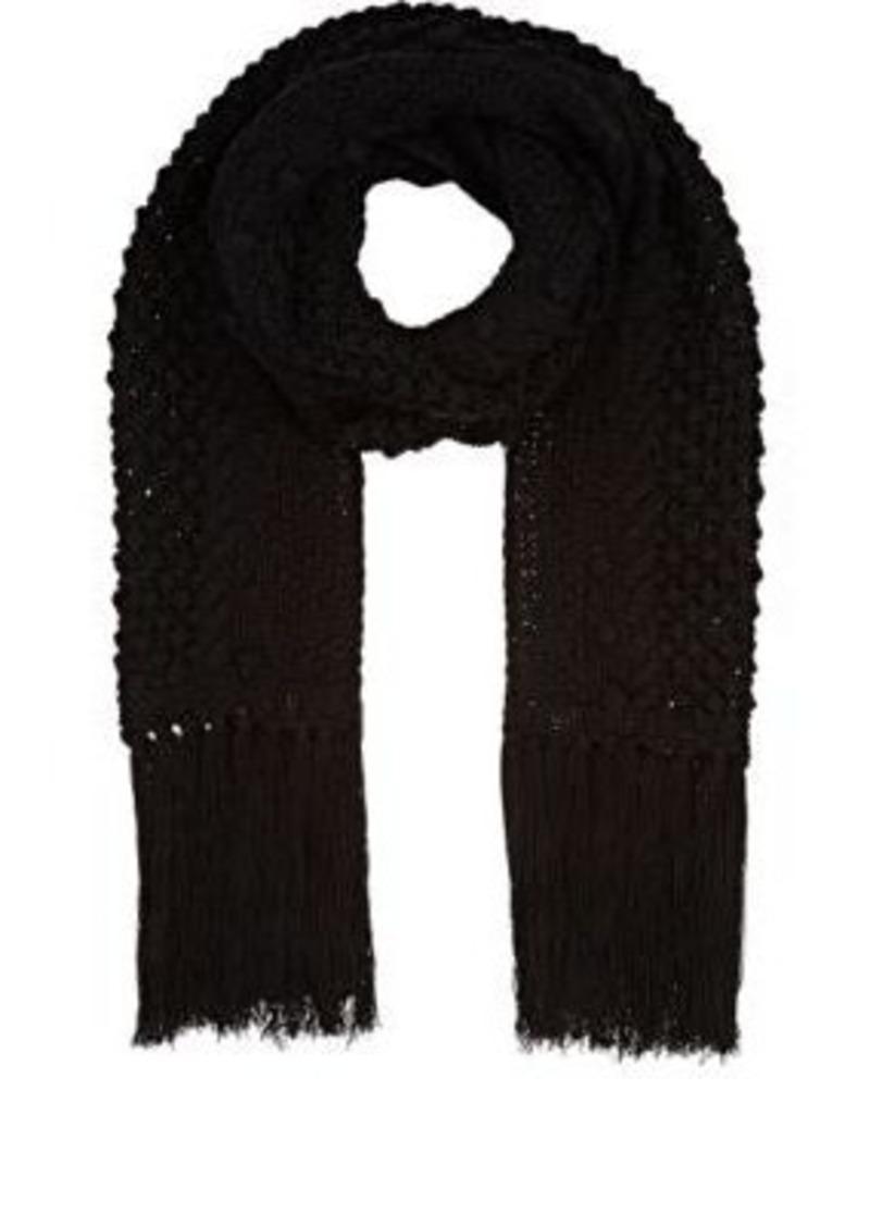Barneys New York Women's Black Wool-Blend Scarf