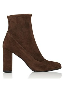 Barneys New York Women's Block-Heel Suede Ankle Boots