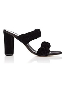 Barneys New York Women's Braided Velvet Double-Band Sandals
