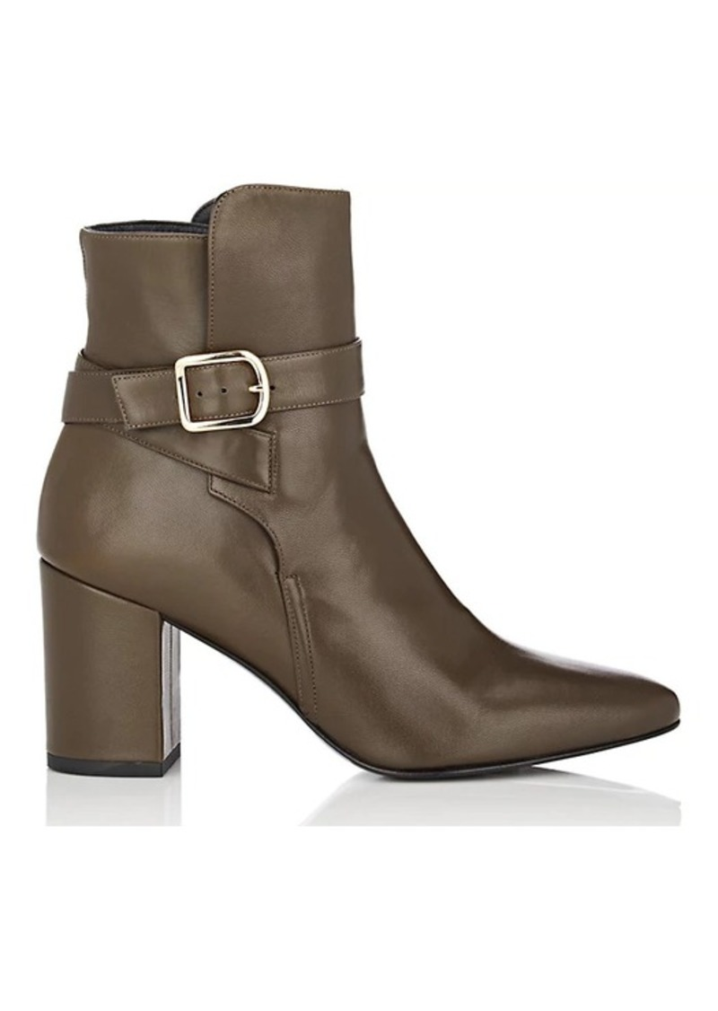 Barneys New York Women's Buckle-Strap Leather Ankle Boots