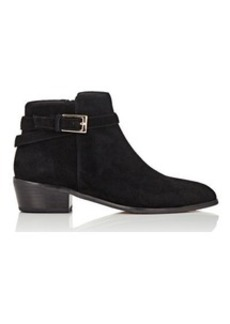 Barneys New York Women's Buckle-Strap Suede Ankle Boots