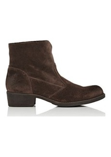 Barneys New York Women's Burnished Suede Ankle Boots