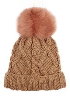 Barneys New York Women's Cable-Knit Pom-Pom Embellished Hat