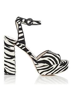 Barneys New York Women's Calf Hair Platform Sandals