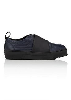 Barneys New York Women's Canvas & Leather Slip-On Sneakers