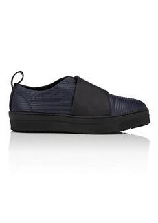 Barneys New York Women's Canvas & Leather Slip-On Sneakers