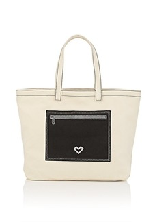 Barneys New York Women's Canvas Tote Bag-Beige, Tan