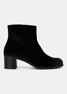 Barneys New York Women's Cap-Toe Velvet Ankle Boots