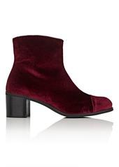Barneys New York Women's Cap-Toe Velvet Ankle Boots