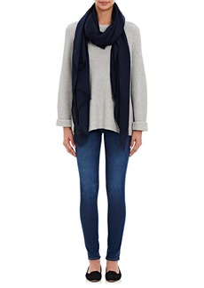 Barneys New York Women's Cashmere Oversized Scarf - Navy