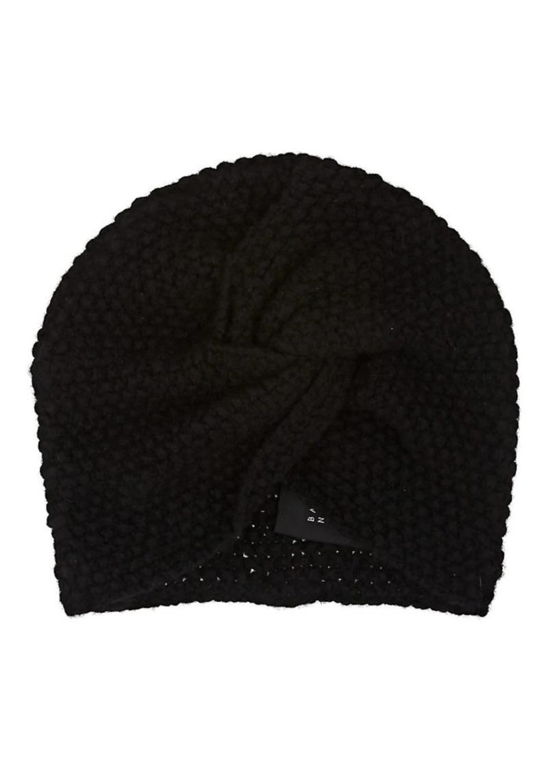 Barneys New York Women's Cashmere-Silk Turban Cap - Black