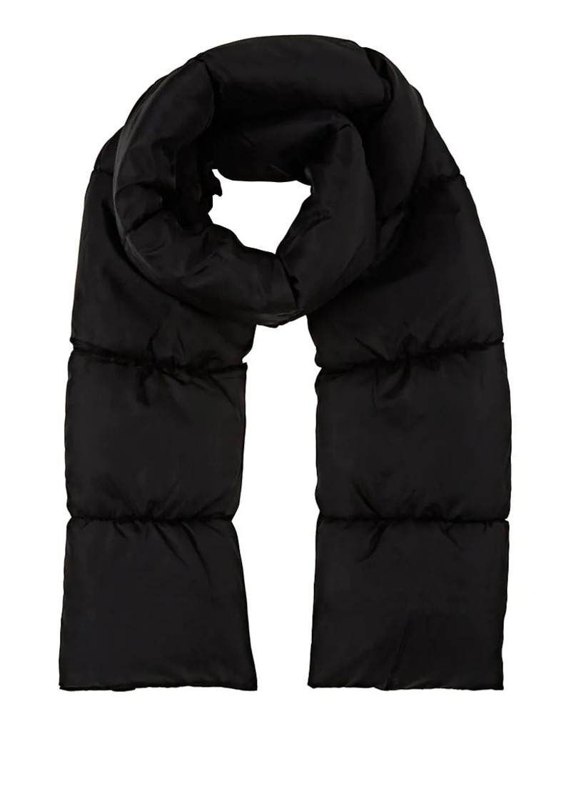 Barneys New York Women's Channel-Quilted Puffer Scarf - Black
