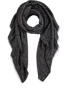 Barneys New York Women's Chevron-Knit Blanket Scarf - Wht.&blk.