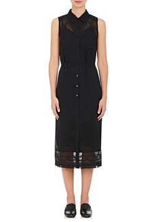 Barneys New York Women's Chiffon Embroidered Shirtdress