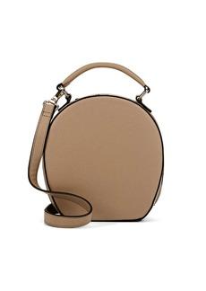 Barneys New York Women's Circular Faux-Leather Shoulder Bag-Beige, Tan