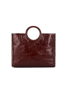Barneys New York Women's Circular-Handle Leather Tote Bag - Brown
