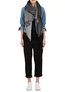 Barneys New York Women's Colorblocked Cashmere-Blend Scarf - Black