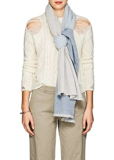 Barneys New York Women's Colorblocked Cashmere Scarf - Gray