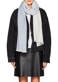 Barneys New York Women's Colorblocked Cashmere Scarf - Blue Pat.