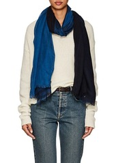 Barneys New York Women's Colorblocked Linen-Silk Oversized Scarf - Navy