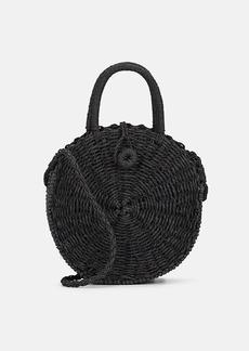 Barneys New York Women's Cooper Straw Circle Crossbody Bag - Black