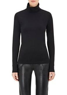 Barneys New York Women's Cotton-Blend Jersey Turtleneck Top