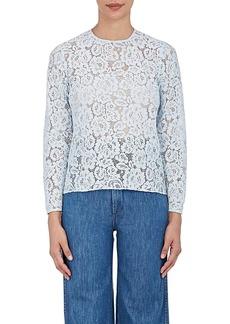 Barneys New York Women's Cotton-Blend Lace Blouse