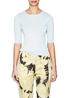 Barneys New York Women's Cotton-Blend Scoopback Sweater