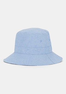 Barneys New York Women's Cotton Chambray Bucket Hat - Blue