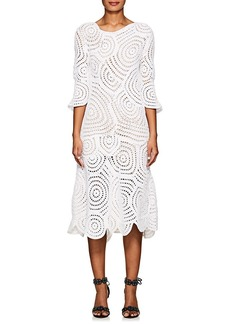 Barneys New York Women's Cotton Crochet Midi-Dress