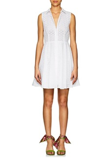 Barneys New York Women's Cotton Eyelet A-Line Shirtdress