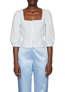 Barneys New York Women's Cotton Eyelet Bustier Top