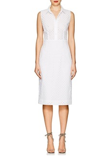 Barneys New York Women's Cotton Eyelet Shirtdress