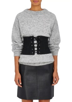 Barneys New York Women's Cotton Lace-Up Corset