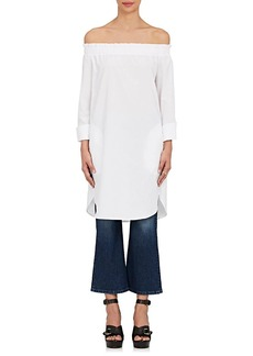 Barneys New York Women's Cotton Off-The-Shoulder Dress