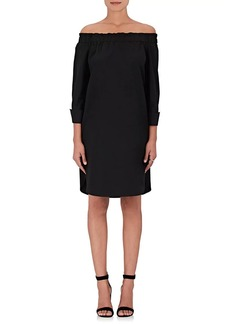 Barneys New York Women's Cotton Off-The-Shoulder Shift Dress