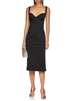Barneys New York Women's Cotton Sateen Bustier Fitted Dress