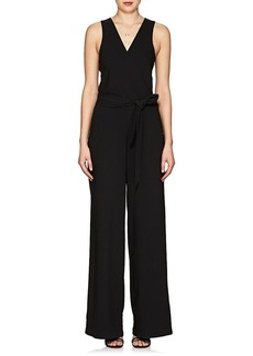 Barneys New York Women's Crepe Belted Jumpsuit