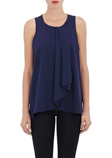 Barneys New York Women's Crepe Sleeveless Blouse