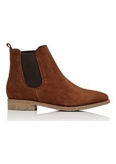 Barneys New York Women's Crepe-Sole Suede Chelsea Boots