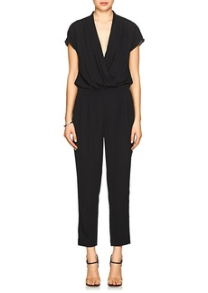 Barneys New York Women's Crepe Surplice-Neck Jumpsuit