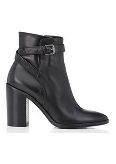 Barneys New York Women's Crisscross-Strap Leather Ankle Boots