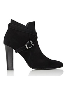 Barneys New York Women's Crisscross-Strap Suede Ankle Boots