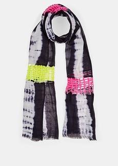 Barneys New York Women's Crochet-Detailed Tie-Dyed Scarf - Blue Multi
