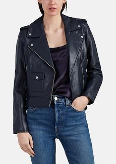 Barneys New York Women's Crop Leather Moto Jacket